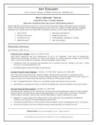 Resume Format For Banking Jobs Banking Resume Example Banking Resume Examples Sample Resume For