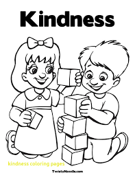 Kindness Coloring Pages With Kindness Coloring Pages 20779 Free