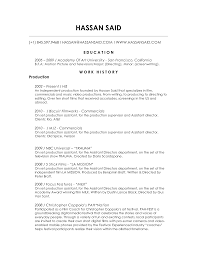 Extraordinary Production Resume Objective Examples For Music