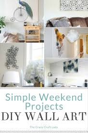 check out these simple art projects and fill your walls with style these creative and on make large wall art cheap with simple art projects you can make this weekend the crazy craft lady