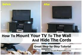 hiding cords ways to hide from tv in bathroom wires wall mounted