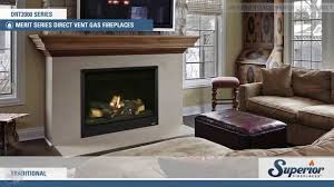 superior drt2000 direct vent gas fireplace