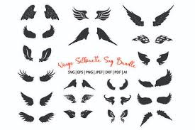 Use these sources to get free cut files to make crafts of all types! Wings Silhouette Svg Files Graphic By Meshaarts Creative Fabrica