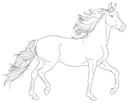 Coloring Pages Grazzing Mare Horse And Filly Coloring Page Free