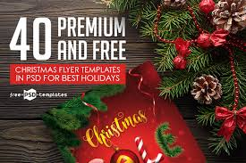 Christmas Flyer Templates 40 Premium Free Christmas Flyer Templates In Psd For Best