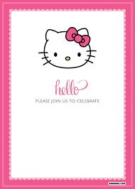 Hello Kitty Party Invitation Free Printable Hello Kitty Birthday Invitations Bagvania