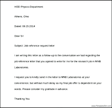 Letters Of Reference For A Job Simple Reference Letter Example For Job Perfect Pics Also