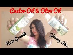 castor oil and olive oil for hair