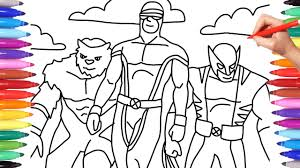 X men, the team of mutant superheroes, part of the marvel comic series are a rage as a coloring page item. X Men Wolverine X Men Coloring Pages Wolverine Coloring Pages Coloring Videos Youtube