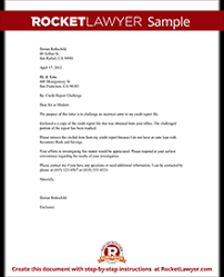 Letters To Dispute Credit Credit Report Challenge Dispute Credit Report Letter