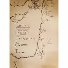 Map The Route Of The First Crusade In The Holy Land Oc
