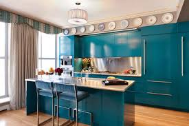 New Blue Kitchen Cabinets
