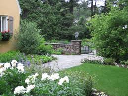cool french country garden landscape design