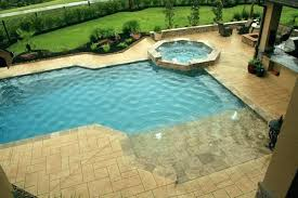 beach entry pool cost swimming designs sting home fiberglass zero depth fiberglass pools zero entry