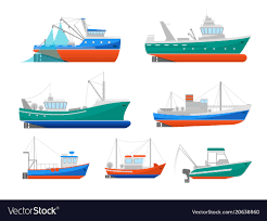 cartoon images of boats.  Images Cartoon Fishing Boats Icons Set Vector Image And Images Of Boats