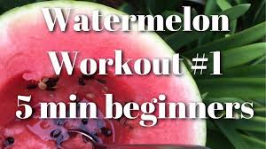5 minutes to ms watermelon workout 1 5 minutes for beginners ms fitvegan youtube