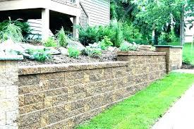 planter wall block retaining blocks garden decorative ho