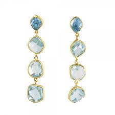 aquamarine and 18ct gold drop earrings