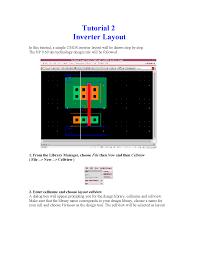 Inverter Layout Design Inverter Design Tutorial Docsity
