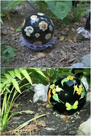 Decorated Bowling Balls 100 Gorgeous DIY Gazing Balls To Decorate Your Garden DIY Crafts 68