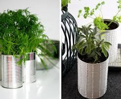 diy tin can herb garden