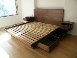 Rustic Platform Beds With Storage Rustic Platform Bed With Drawers