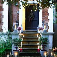 christmas outdoor lighting ideas. front door steps with lighted candles l outdoor christmas lighting ideas 2013 photo