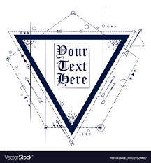 Abstract Geometrical Triangle Tattoo Art Design