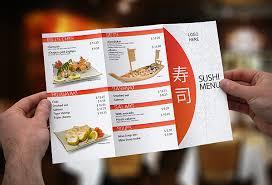 Tri Fold Sushi Menu Template On Pantone Canvas Gallery