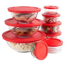 pyrex glass bowl set pyrex 3 cup sculpted mixing bowl w lid pyrex set kitchen appliances corner kitchen set