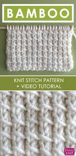 Knit Stitch Patterns Classy How To Knit The Bamboo Stitch Pattern Pinterest Stitch