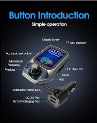 <b>Car FM transmitter car</b> MP3 player hands free calling <b>Bluetooth</b> ...