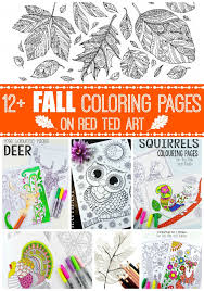 Free Printable Adult Coloring Pages For Fall Red Ted Art