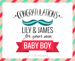 New Baby Congratulations Cards New Baby Congratulations Greeting Card Maker Editable Design