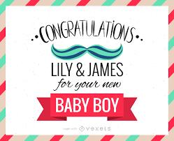 New Baby Congratulations Greeting Card Maker Editable Design