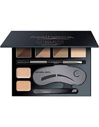 aesthetica brow contour kit 16 piece eyebrow makeup palette 6 brow powders