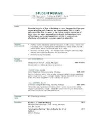 Sample Resume For Recent College Graduate Impressive Recent College Graduate Resume Template For Resumes Students Format