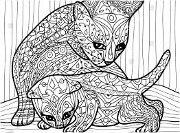 cat mother and her kitten coloring book for s hand kittens pages full size