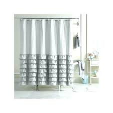 white ruffle shower curtain. Fashionable White Ruffle Shower Curtain Gray