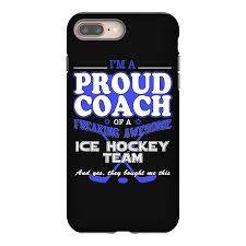 proud ice hockey coach shirt gift for ice hockey coach iphone 8 plus case