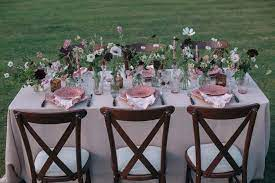 garden party table styling ideas with
