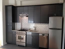 Subway Tile Floor Kitchen Contemporary Kitchen With Flush Light Slate Tile Floors In New