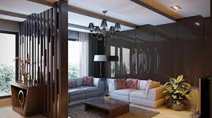 Floor to ceiling room dividers with painted wood panels