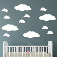 nursery cloud wall decals fluffy