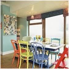 mixing dining room chairs wallpaper