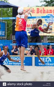 Leeuwarden The Netherlands June 10 Dutch Beachvolley Team During