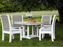 Berlin Gardens Ohio Backyard With Amish Crafted Poly Recylced Plastic Dining Table And Chairs