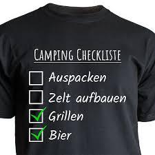 Tshirt Camping Seine Majestät Der Camper Spruch