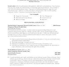 Examples Of Social Work Resumes Sample Social Worker Resume No