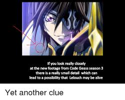 alive anime and code geass if you look really closely at the new